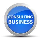 咨询的企业蓝色圆的按钮 向量例证