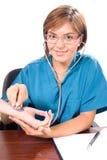 咨询的医生听诊器年轻人 库存照片