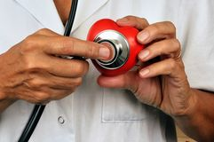 咨询的概念在心脏病学方面 免版税图库摄影
