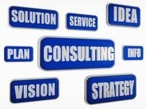 咨询-蓝色企业概念 免版税库存图片
