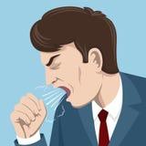 咳嗽人传染媒介例证 免版税库存照片