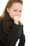 咳嗽妇女 免版税库存图片