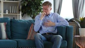 咳嗽病的中世纪的人坐和,咳嗽传染 影视素材
