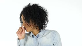 咳嗽病的黑人妇女,咳嗽 股票录像