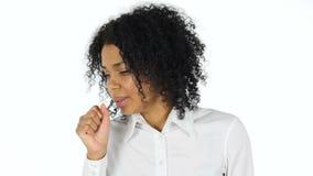 咳嗽的黑人妇女,咳嗽 影视素材