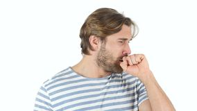 咳嗽,病态的中世纪人咳嗽 影视素材