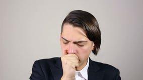 咳嗽年轻人 股票视频