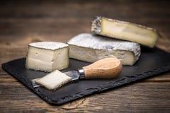 咸味干乳酪乳脂干酪 免版税库存图片