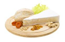 咸味干乳酪干酪部分  免版税库存照片