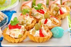 咸微型果子馅饼的分类与多种装填的 图库摄影