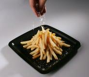 咸的炸薯条 免版税图库摄影