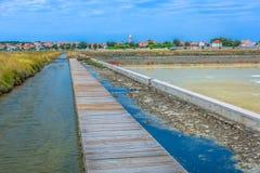咸领域在Nin,克罗地亚 库存图片