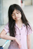 哀伤乏味沮丧的女孩 免版税库存照片