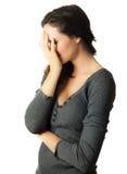 哀伤和沮丧的妇女 图库摄影