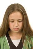 哀伤和沮丧的小女孩 免版税库存图片