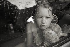 哀伤女孩的纵向 免版税库存照片