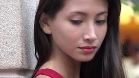 哀伤女性青少年 股票录像