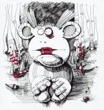 哀伤小丑的图画 免版税库存照片
