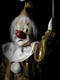 哀伤小丑的牵线木偶 免版税图库摄影