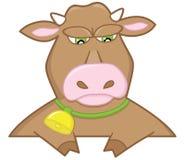 哀伤棕色的公牛 免版税库存照片