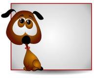 哀伤横幅大被注视的小狗 向量例证