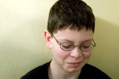 哀伤男孩的玻璃 免版税库存图片