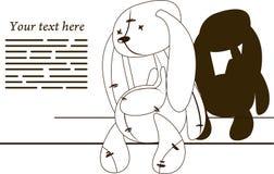 哀伤的兔子 免版税库存照片