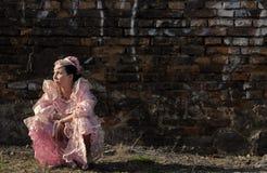 哀伤的公主 图库摄影