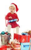 哀伤的圣诞老人辅助工 免版税库存照片