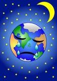 哀伤的地球 向量例证