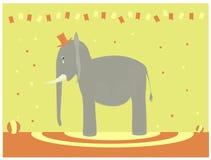 哀伤的大象 免版税库存图片