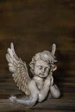 哀伤的天使:问候或吊唁卡片的想法 库存照片