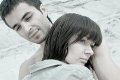 哀伤的夫妇 免版税库存照片