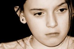 哀伤的女孩 库存图片
