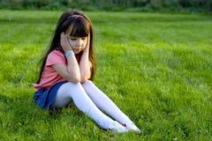 哀伤的女孩 库存照片