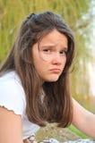 哀伤的女孩 图库摄影