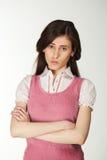 哀伤的妇女年轻人 免版税图库摄影
