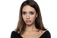 哀伤的妇女年轻人 免版税库存照片