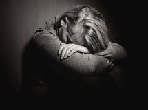 哀伤的妇女 库存图片