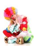 哀伤的小丑 免版税库存图片