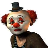哀伤的小丑 免版税库存照片