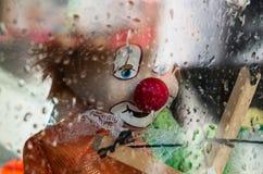 哀伤的小丑 库存图片