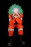 哀伤的小丑 图库摄影
