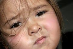 哀伤的小孩 图库摄影