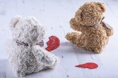 哀伤的玩具熊 库存照片