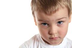 哀伤的男孩 免版税库存图片