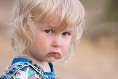 哀伤的婴孩 库存图片