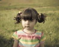 哀伤的婴孩 免版税库存照片