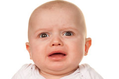 哀伤婴孩哭泣的表面 免版税库存照片