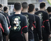 哀悼天阿修罗的土耳其希雅的人 库存照片